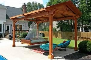hammock chair pergola patio contemporary with gate