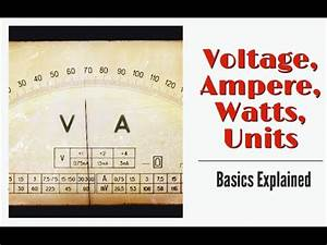 Watt Volt Ampere : understand voltage ampere watts and unit of electricity ~ A.2002-acura-tl-radio.info Haus und Dekorationen