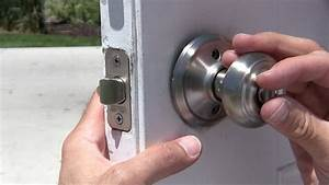 How To Change A Door Knob  U0026 Dead Bolt Repair