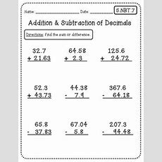 Common Core Math Worksheets (for All 5th Grade Standards) Pairs Well With Interactive Math