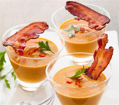 guide cuisine recettes recette soupe de courge et chips de jambon en verrine