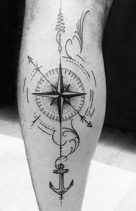 20 Cool Compass Tattoos For Men in 2020 - The Trend Spotter