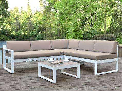 salon jardin palaos canape angle relevable table taupe