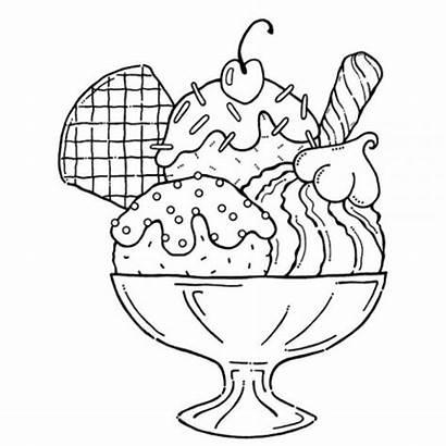 Ice Cream Cartoon Sundaes Coloring Sundae Clipart
