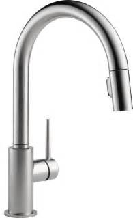 delta faucet kitchen delta 9159 ar dst pull out spray kitchen faucets modern kitchen faucets denver by
