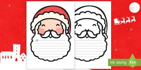 letter  santa writing template english spanish
