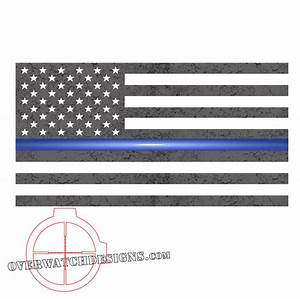 Thin Blue Line Subdued Flag - Overwatch Designs