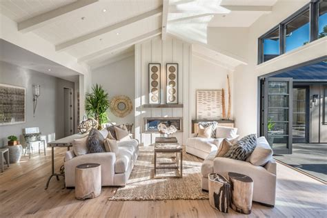 beautiful farmhouse interiors large and wide beautiful rustic modern farmhouse living room with white sofas and pillows artenzo