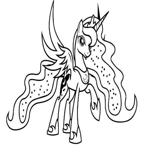 Kleurplaat My Pony Princess by My Pony Coloring Pages Princess Coloring