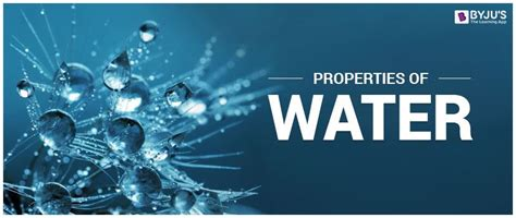 properties  water physical chemical properties
