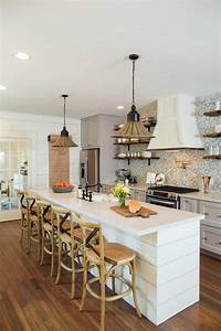Fixer upper makeover a style packed small space hgtv39s for Kitchen cabinets lowes with boho chic wall art