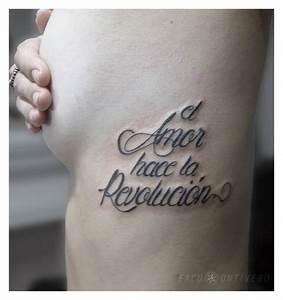 Frase: el Amor hace la revolución by Facu Ontivero Tatuajes para Mujeres