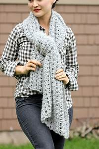 Crochet Shawl Scarf  Free Pattern