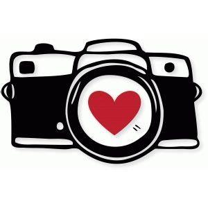 Clip Art Camera Heart Clipart Camera Pencil And In Color Heart Clipart