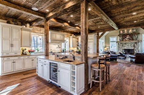 Range In Kitchen Island - rustic kitchen ideas kitchen rustic with beige countertop single basin bar sinks