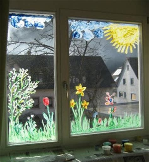 Herbst Fingerfarbe Fenster by Klam 246 Ttchen Fr 252 Hling