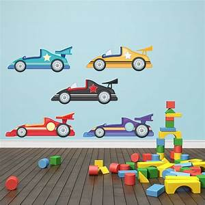 racing cars wall stickers by mirrorin notonthehighstreetcom With car wall decals