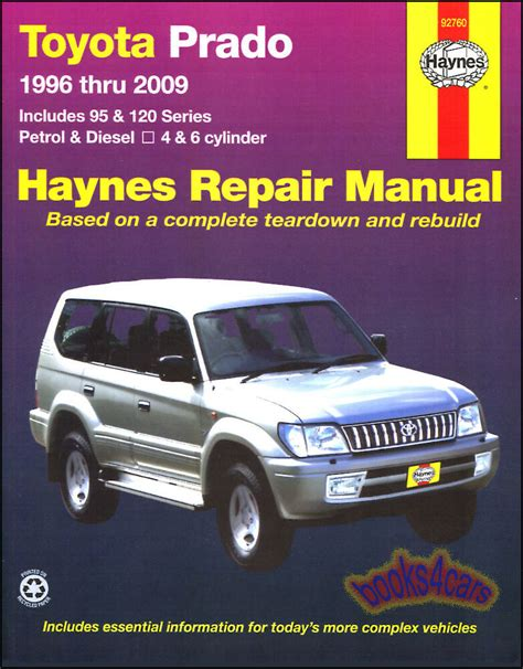 free car repair manuals 2005 toyota land cruiser spare parts catalogs toyota prado shop manual service repair book haynes
