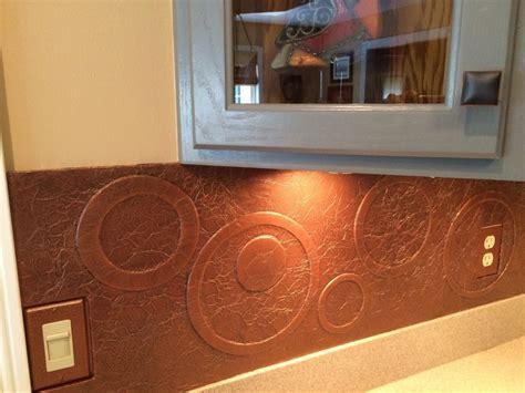 diy kitchen copper backsplash copper backsplash