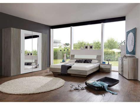 chambre complet chambre complète ginny coloris chêne montana et blanc