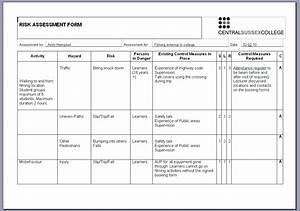best photos of risk assessment examples safety risk With formal risk assessment template