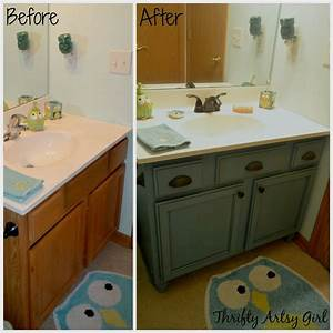 hometalk builders grade teal bathroom vanity upgrade for With chalk paint in bathroom