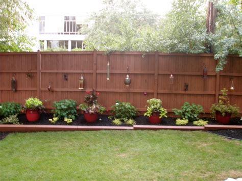 backyard fence landscaping ideas outdoor landscape backyard fence traditional landscape chicago