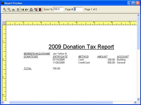 create year  tax statements report sample