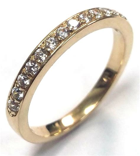 traditional bridal  yellow gold wedding band
