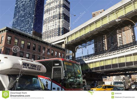 port authority terminal nyc traffic by port authority terminal editorial photo image 30080346