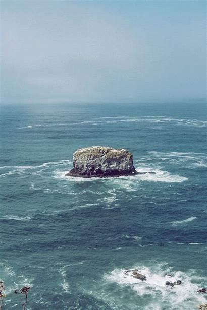 Rocks Ocean Waves Gifs Coast Oregon Enregistree