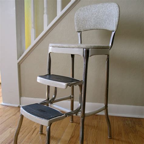 vintage step stool chair by gracewillvintage on etsy