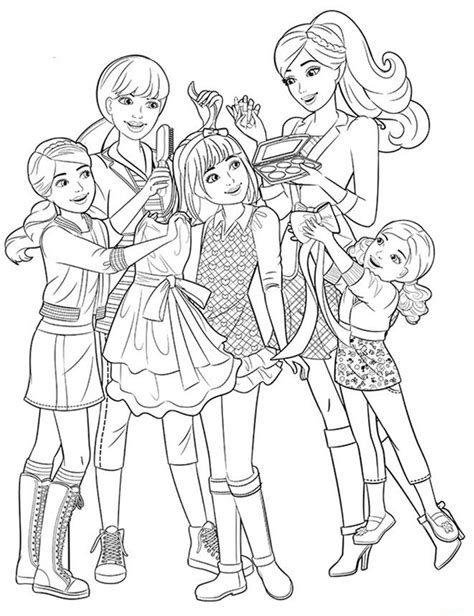 barbie her little sisters coloring page coloring pages