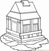 Monastery Coloring Pages Empire State Building Coloringpages101 Buildings Kidz Designlooter Getdrawings Drawing Template sketch template