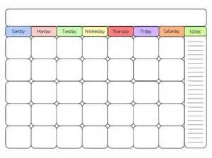 Free Printable Blank Calendar Pages