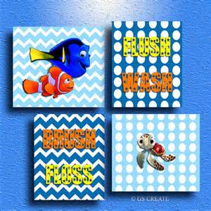 finding nemo dory squirt baby boy gift bathroom wall by