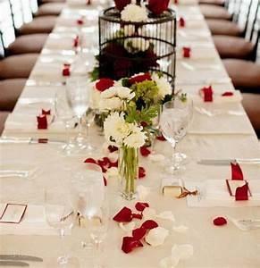 Tisch Blumen Hochzeit : 11 tisch deko hochzeit rose bl tterrot und wei elegant rose hochzeit klassische und ~ Orissabook.com Haus und Dekorationen