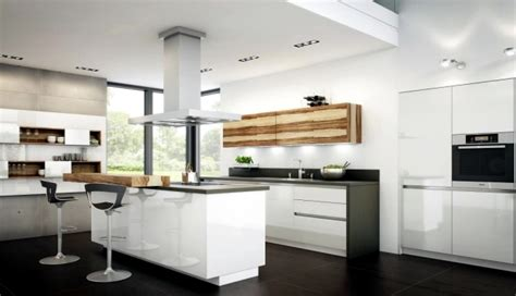 Kitchen Color Combination Ideas - modern high gloss kitchen in white 20 dream kitchens with high gloss fronts interior design
