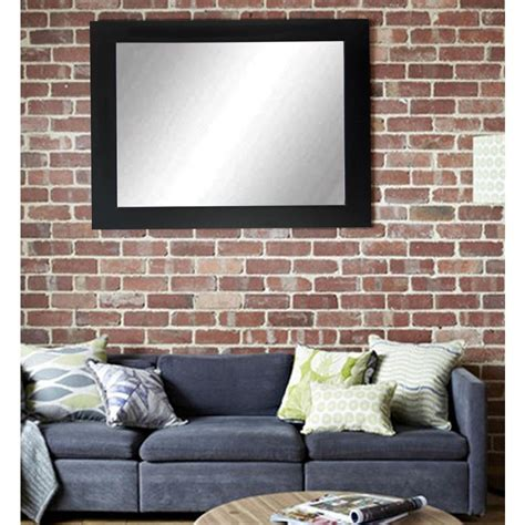 The Sofa Mirror by Sofa Decor Matte Black Decorative Framed Wall Mirror