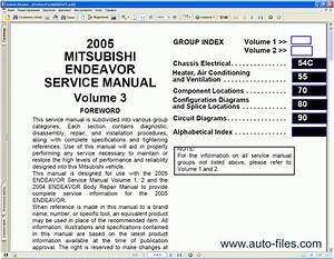 2004 Mitsubishi Endeavor Workshop Part Repair Service Manual User Guide