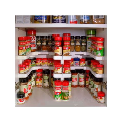 kitchen island with cupboards spicy shelf patented spice rack and stackable organizer