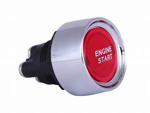 12v Illuminated Red Engine Start Push Switch