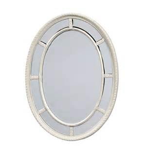 Antique White Oval Bathroom Mirrors