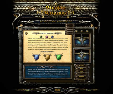 website templates fantasy fantasy interface template
