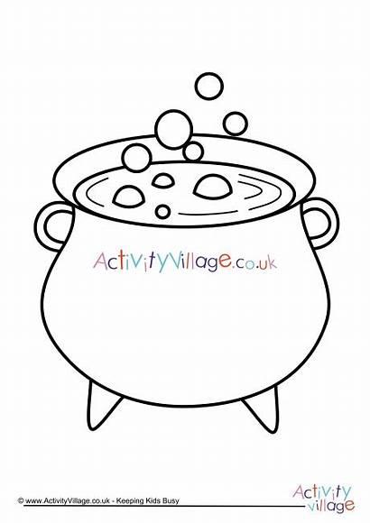 Cauldron Colouring Pages Activity Village Explore
