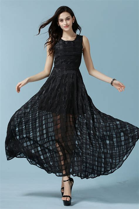 KETTYMORE WOMENS SLEEVES NEW FASHION JACQUARD DRESS BLACK - Kettymore