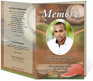 218 best images about creative memorials with funeral With sports program template free