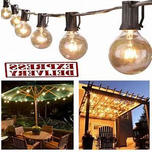 Outdoor, String, Lights, G40, Globe, Bulbs, Patio, Yard