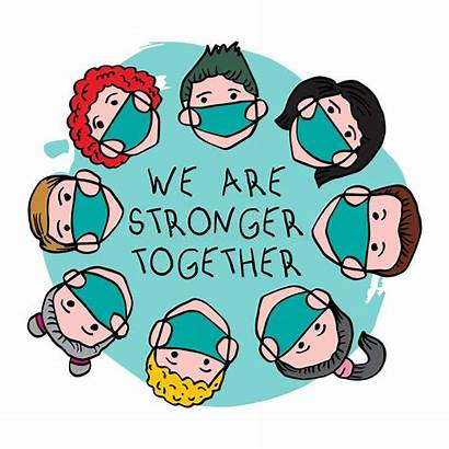 Together Strong Coronavirus Mask Medical Prevent Clipart