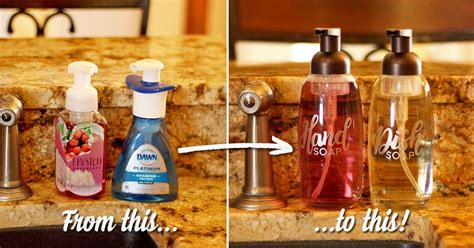 pretty foaming soap dispensers  etched glass vinyl